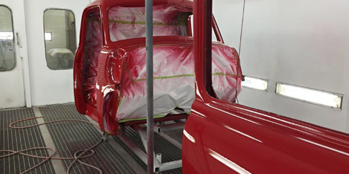 Painting of the 1951 Chevy Cab