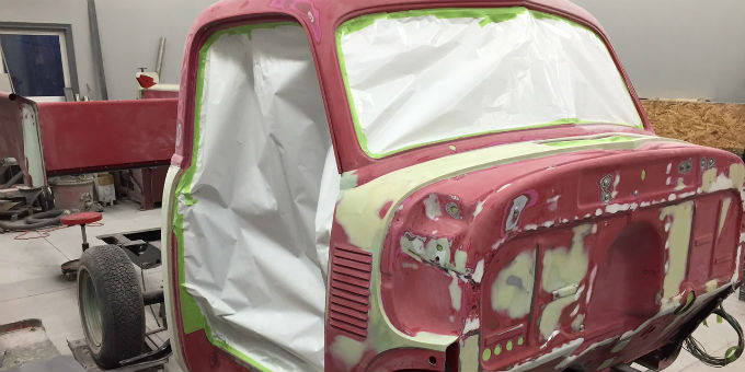 Andy's 1951 Chevrolet truck ready for primer