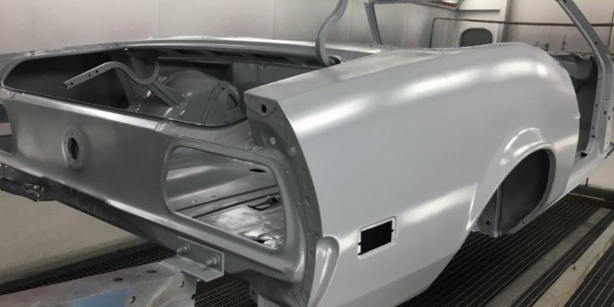 71 Mustang in Epoxy Primer