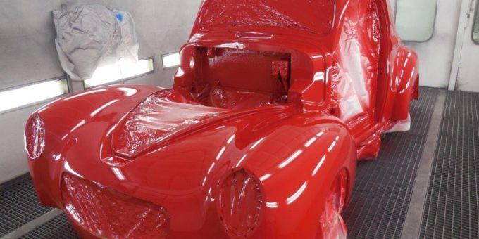 41 Willys Primer and Paint