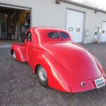 41 Willys restoration with custom red pain job - Back Drivers Side