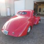 41 Willys restoration with custom red pain job - Back Passenger Side