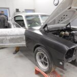 65-mustang fastback body work