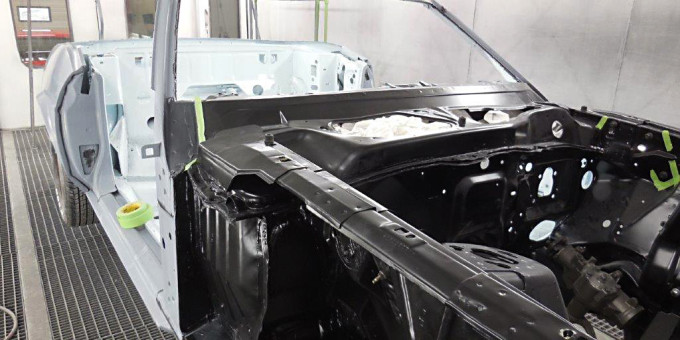 71 Mustang ready for final paint