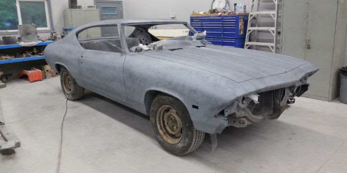 Dan's 1968 Pontiac Beaumont is finished the primer stage