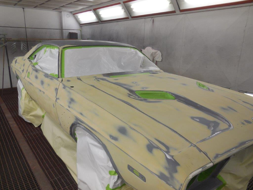 We Will Then Put It Back In The Booth And Apply Four Coats Of High Build Primer After That Is Dry Take Out Block