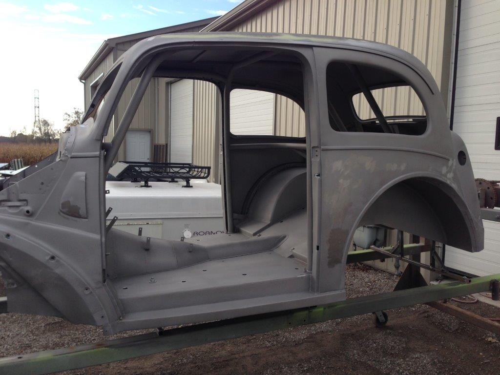 1948 Ford Anglia Restoration Randy Colyn Shop In Ontario Pickup Hot Rod Back From The Sandblaster