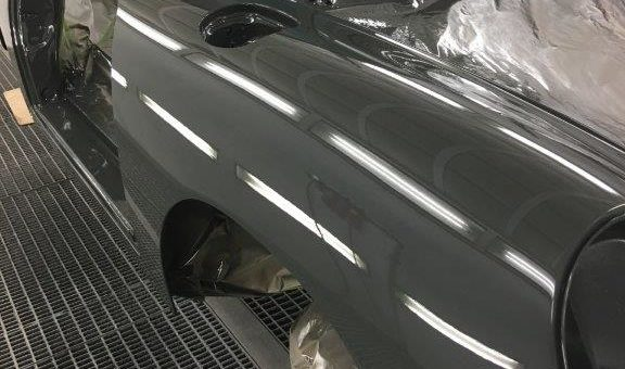 Porsche in the Paint Booth