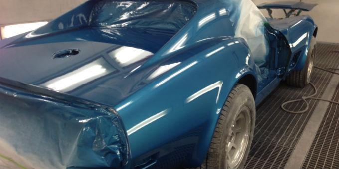 Rob's 1974 Corvette Painted